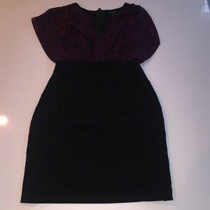 Nicole by Nicole Miller lace top dress 12 black